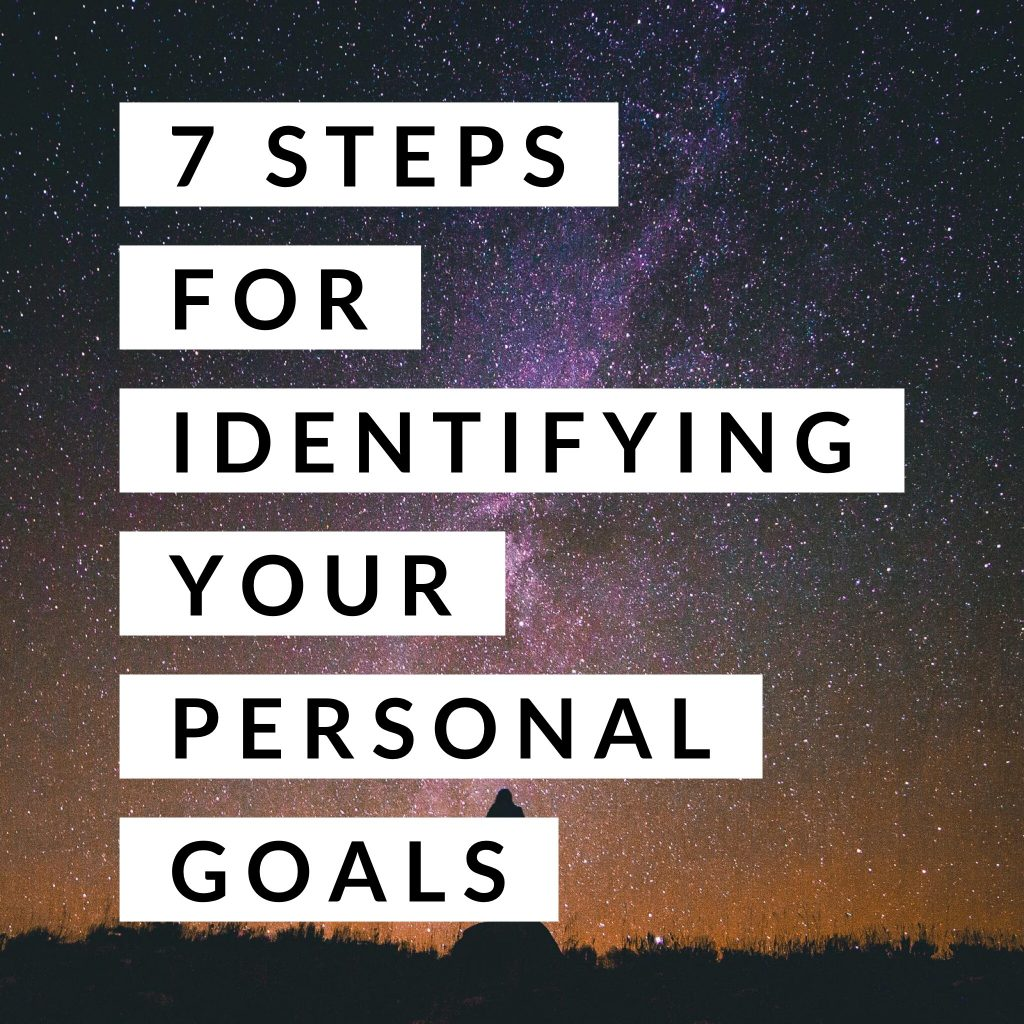 Steps for Identifying your Personal Goals