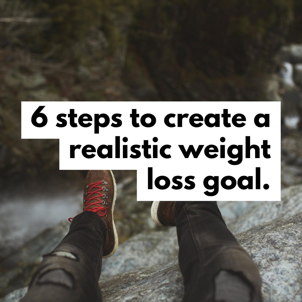 6 steps to create a realistic weight loss goal.